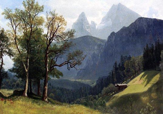 Albert Bierstadt - Tyrolean Lansscape