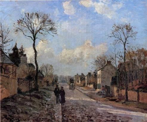 Camille Pissarro - A Road in Louveciennes 2