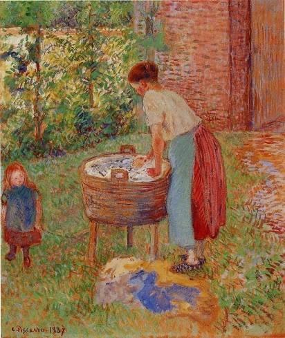 Camille Pissarro - Washerwoman, Eragny