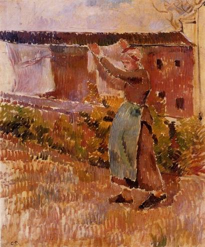 Camille Pissarro - Women Tending the Laundry