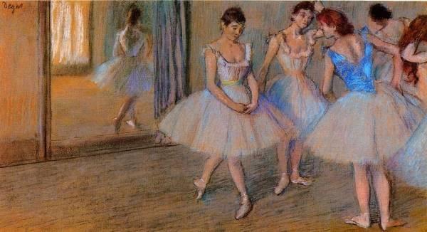Edgar Degas - Dancers in a Studio 1