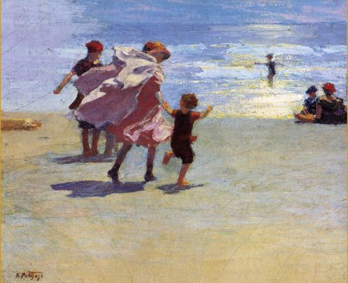Edward Potthast - Brighton Beach