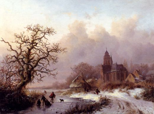 Frederik-Marianus Kruseman - A Frozen Winter Landscape