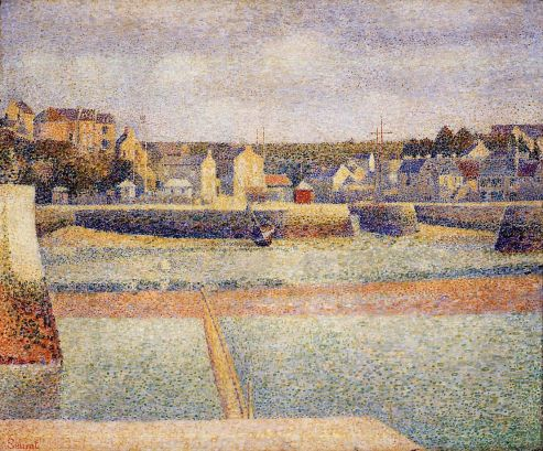 Georges Seurat - Port-en-Bessin, The Outer Harbor, Low Tide