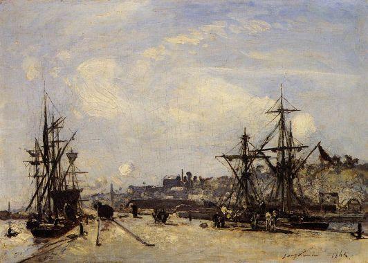 Johann-Barthold Jongkind - Honfleur, the Railroad Dock