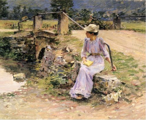 Theodore Robinson - La Debacle Aka Marie At The Little Bridge