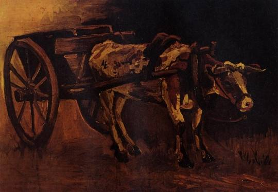 Vincent van Gogh - Cart with Red and White Ox