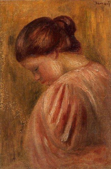 Pierre-Auguste Renoir - Portrait of a Girl in Red