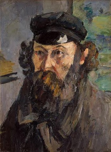 Paul Cezanne - Self Portrait in a Casquette