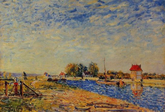 Alfred Sisley - The Loing Canal 1