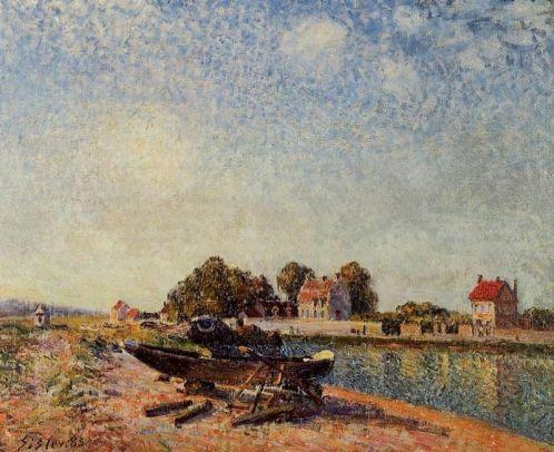Alfred Sisley - The Loing at Saint-Mammes 5