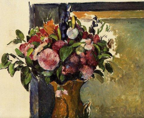 Paul Cezanne - Flowers in a Vase 2