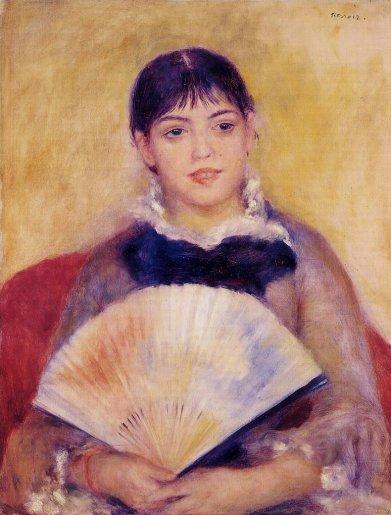 Pierre-Auguste Renoir - Girl with a Fan aka Alphonsine Fournaise
