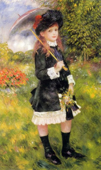 Pierre-Auguste Renoir - Girl with a Parasol aka Aline Nunes