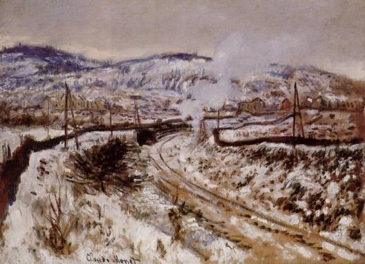 Claude Monet - Train in the Snow, Argenteuil