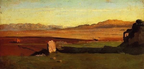 Jean-Baptiste-Camille Corot - Roman Countryside
