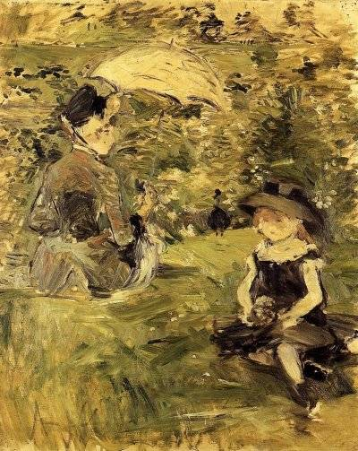 Berthe Morisot - Young Woman and Child on an Isle