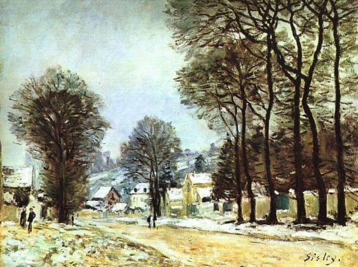 Alfred Sisley - Snow at Louveciennes 2