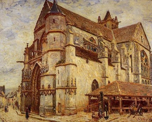Alfred Sisley - The Church at Moret, Icy Weather