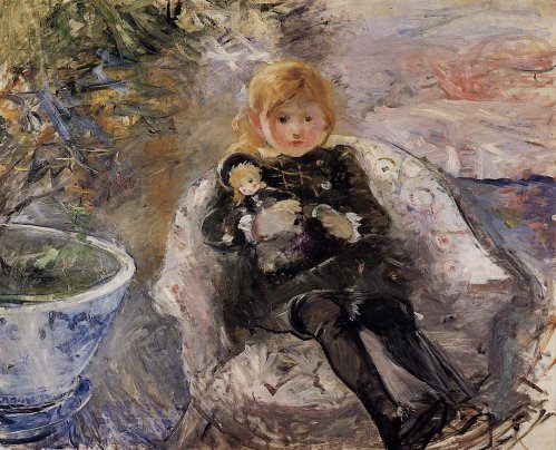 Berthe Morisot - Young Girl with Doll
