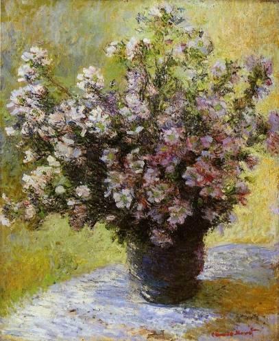 Claude Monet - Bouquet of Mallows