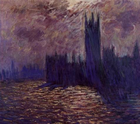 Claude Monet - Houses of Parliament, Reflection of the Thames