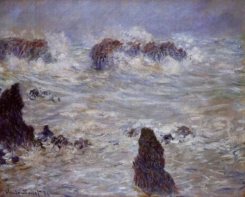 Claude Monet - Storm off the Belle-Ile Coast