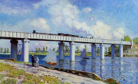Claude Monet - The Railroad Bridge at Argenteuil