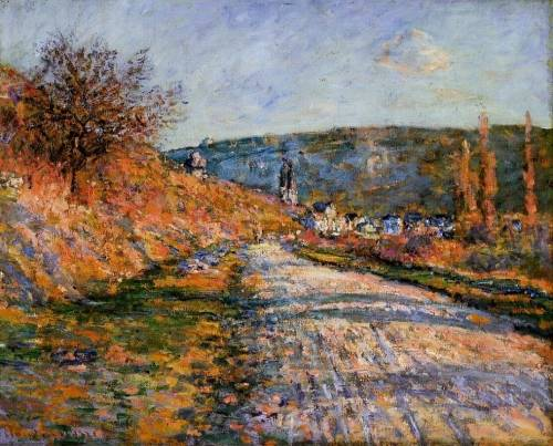 Claude Monet - The Road to Vetheuil