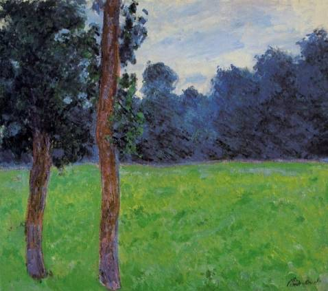Claude Monet - Two Trees in a Meadow