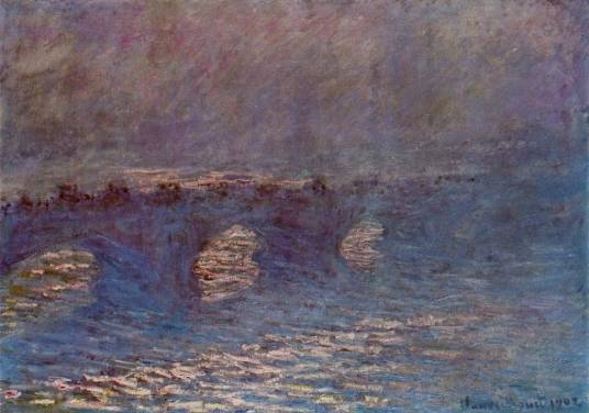 Claude Monet - Waterloo Bridge, Effect of Sun in the Mist
