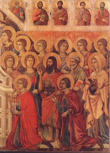 Duccio di Buoninsegna - Maesta 1 (detail) 6