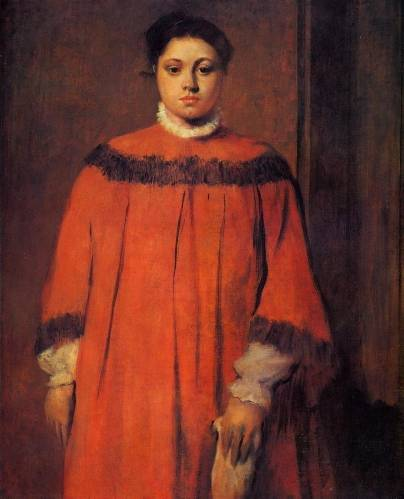 Edgar Degas - Girl in Red