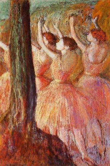 Edgar Degas - Pink Dancers
