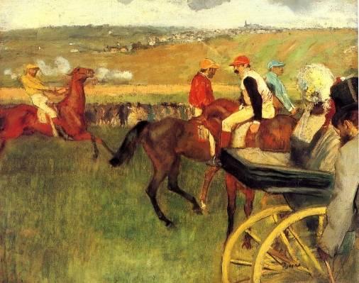 Edgar Degas - The Racecourse, Amateur Jockeys