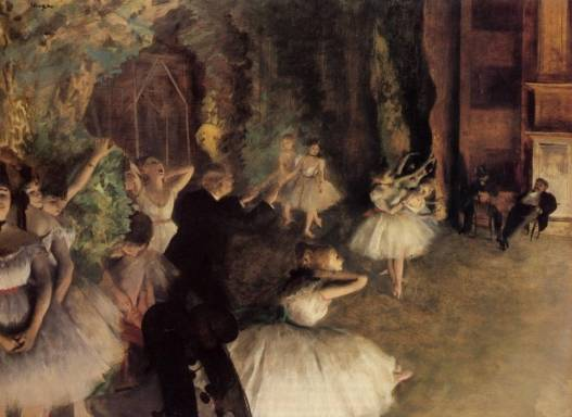 Edgar Degas - The Rehearsal of the Ballet on Stage 1