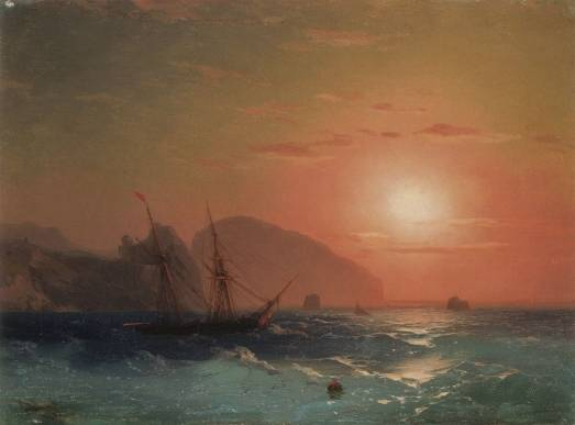Ivan Constantinovich Aivazovsky - View Of The Ayu Dag, Crimea