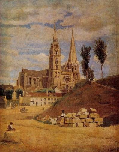 Jean-Baptiste-Camille Corot - Chartres Cathedral