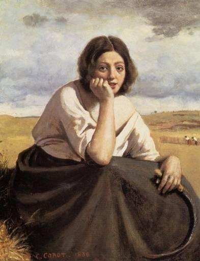 Jean-Baptiste-Camille Corot - Harvester Holding Her Sickle