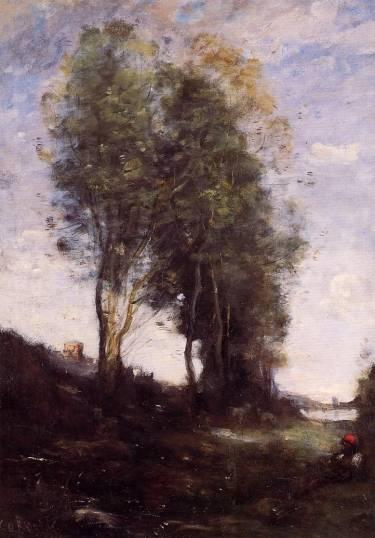Jean-Baptiste-Camille Corot - Shepherd Resting