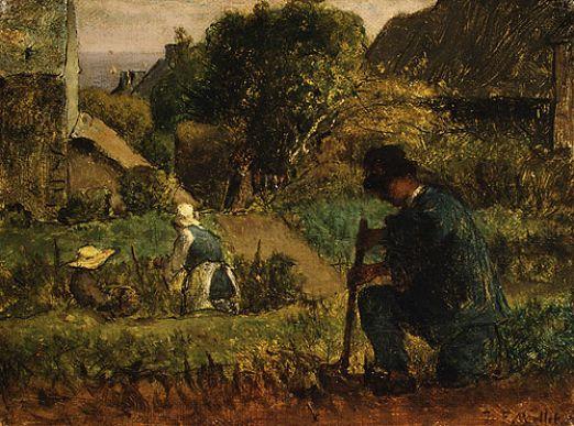 Jean Francois Millet - Garden Scene