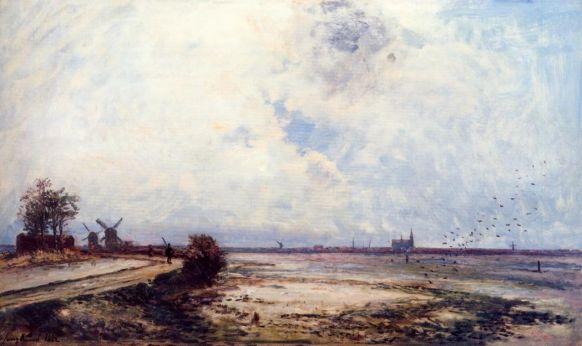 Johann-Barthold Jongkind - Dutch Landscape