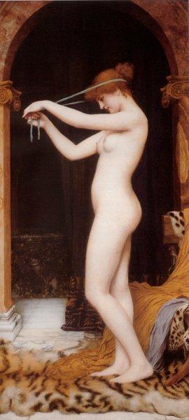 John William Godward - Venus Binding Her Hair
