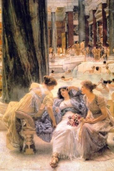 Lawrence Alma-Tadema - The Baths of Caracalla