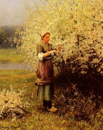 Louis Aston Knight - Spring Blossoms