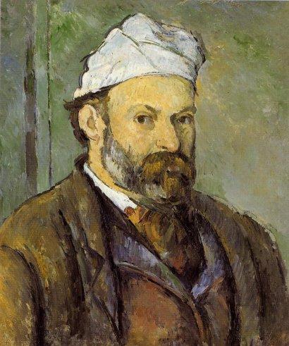Paul Cezanne - Self Portrait in a White Cap