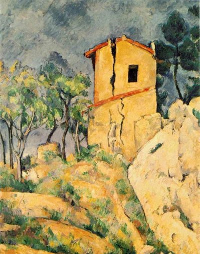 Paul Cezanne - The House with Cracked Walls