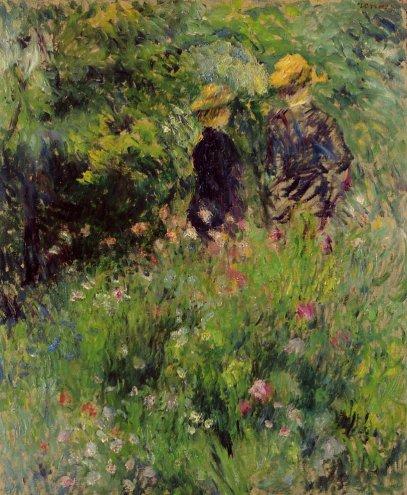 Pierre-Auguste Renoir - Conversation in a Rose Garden