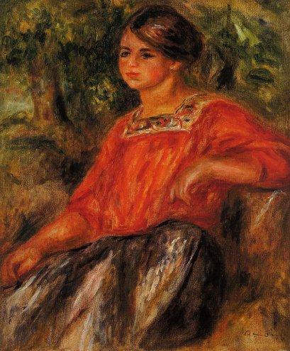 Pierre-Auguste Renoir - Gabrielle in the Garden at Cagnes