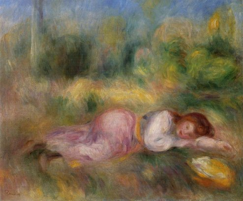 Pierre-Auguste Renoir - Girl Streched out on the Grass